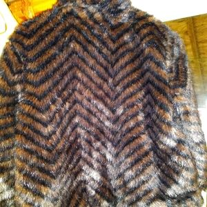 Waist length faux fur jacket